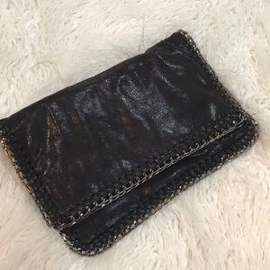Silver & Black clutch. Edgy & Goes w/ Everything!